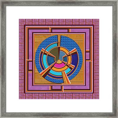 Steering Wheel For People In Helms Of Affairs  Leaders Heads Of Business Enterprises Ceos Presidents Framed Print by Navin Joshi