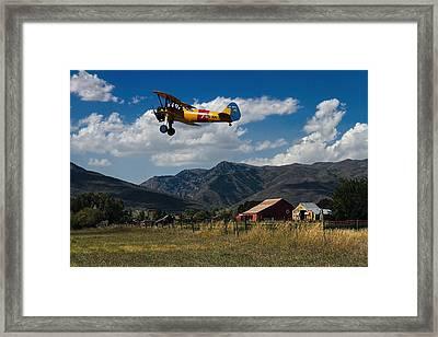 Steerman Bi-plane Framed Print