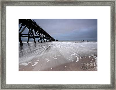 Steetley Pier Framed Print by Nichola Denny