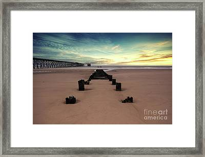 Steetly Pier Framed Print by Nichola Denny