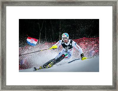 Stefano Gross On Snow Queen Trophy-zagreb Framed Print by Roman Martin