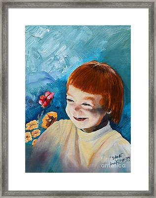 Stefi- My Trip To Holland - Red Headed Angel Framed Print