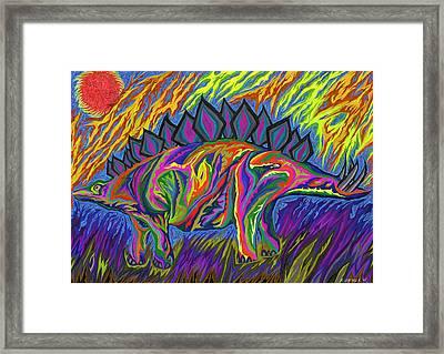 Stegasaurus Colorado Framed Print by Robert SORENSEN