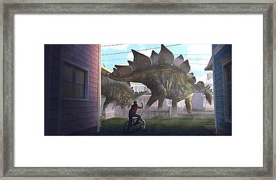 Stegosaurus Framed Print by Guillem H Pongiluppi