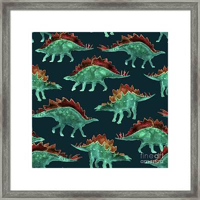 Stegosaurus Framed Print by Varpu Kronholm
