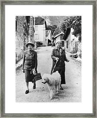 Stein And Toklas, 1944 Framed Print by Granger