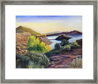 Framed Print featuring the painting Steinaker by Sherril Porter