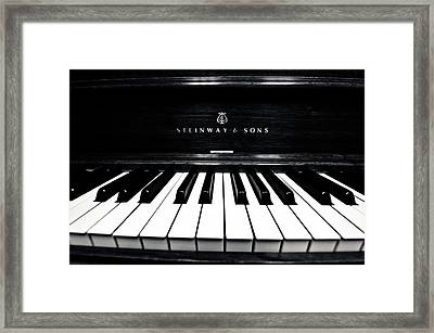 Steinway And Sons Framed Print by Sam Hymas