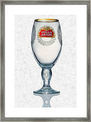 Stella Artois Chalice Painting Collectable Framed Print by Tony Rubino