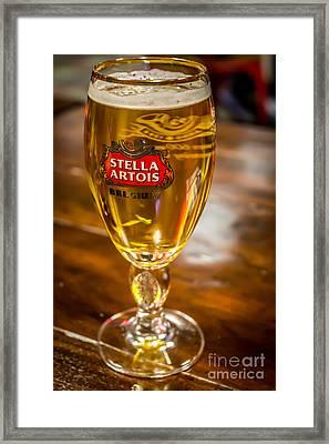Stella Artois  Framed Print