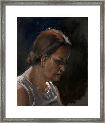 Stella Framed Print by Christopher Reid