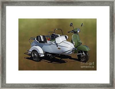 Stella Scooter With Sidecar. Framed Print