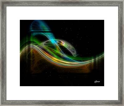 Stellar Bridge Framed Print by Julie Grace