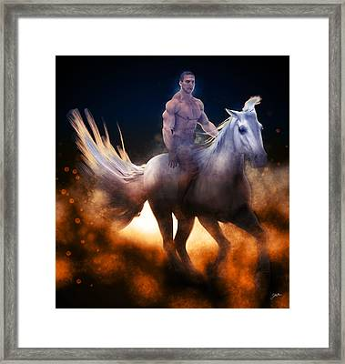 Stellar Rider Framed Print by Joaquin Abella