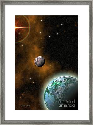 Stellar Smoke Ring Framed Print by Corey Ford