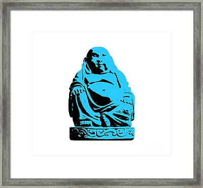 Stencil Buddha Framed Print by Pixel Chimp