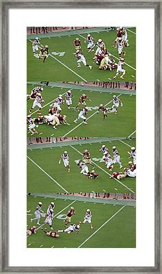 Step By Step College Football Framed Print by Betsy Knapp