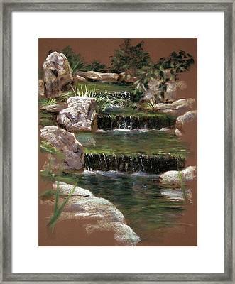 Step Falls Garden Framed Print