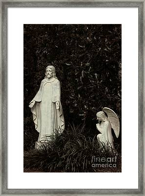 Step From Darkness To His Light - Christian Art Framed Print
