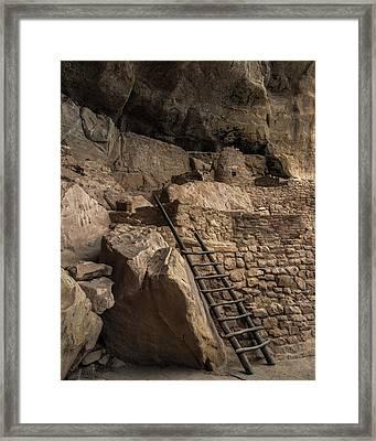 Step House Ladder Framed Print
