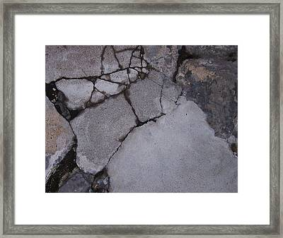 Step On A Crack 3 Framed Print by Anna Villarreal Garbis
