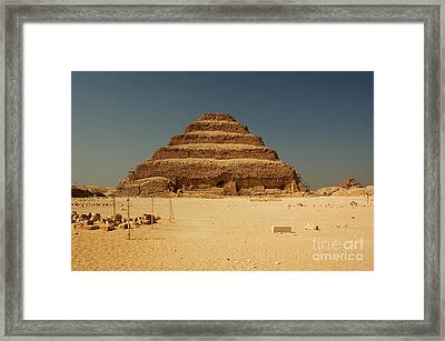 Step Pyramid 2 Framed Print