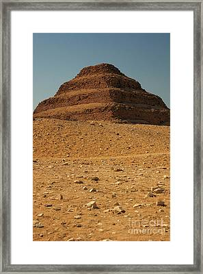 Step Pyramid Framed Print