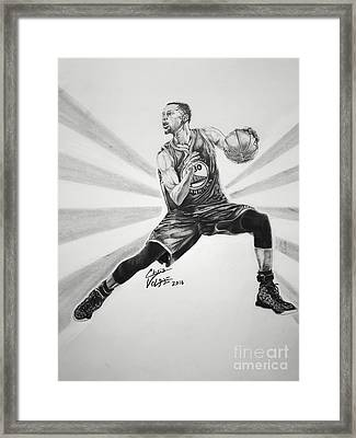 Steph Curry Framed Print by Chris Volpe