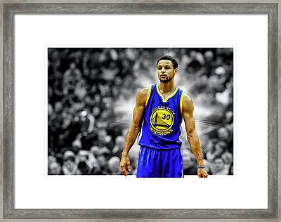 Steph Curry Golden State Warriors Framed Print by Nicholas Legault
