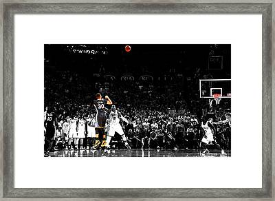 Steph Curry Its Good Framed Print by Brian Reaves