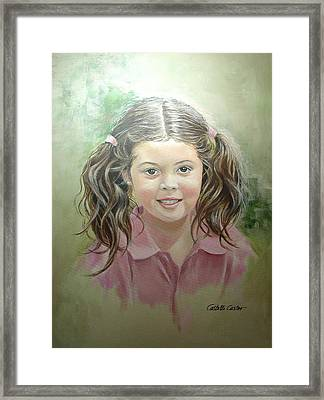 Stephanie Framed Print by JoAnne Castelli-Castor