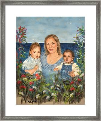 Stephanie With Sarah And Jillian Framed Print