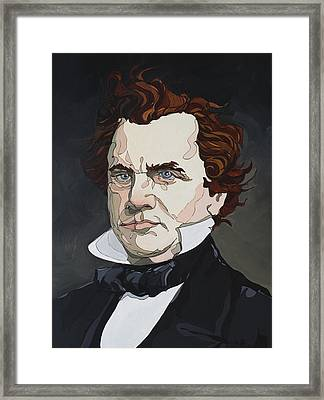 Framed Print featuring the painting Stephen A. Douglas by John Gibbs