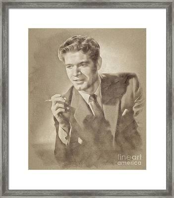 Stephen Boyd, Vintage Actor By John Springfield Framed Print by John Springfield