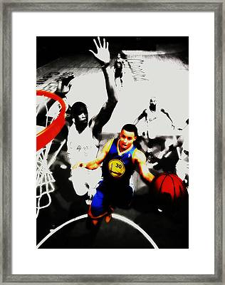 Stephen Curry Going Left Hand Framed Print