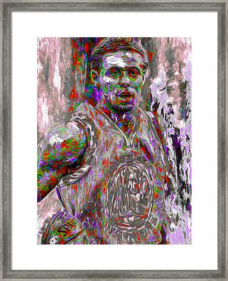 Stephen Curry Golden State Warriors Digital Painting 2 Framed Print