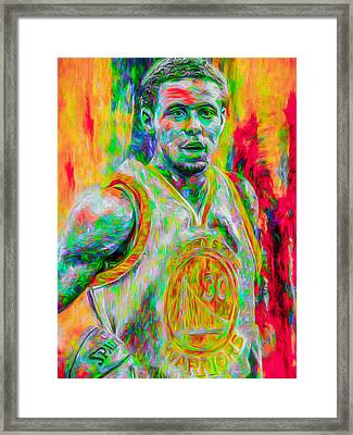 Stephen Curry Golden State Warriors Digital Painting Framed Print