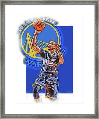 Stephen Curry Golden State Warriors Oil Art 2 Framed Print