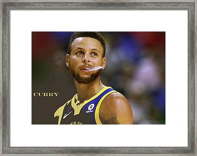 Stephen Curry, Golden State Warriors Framed Print