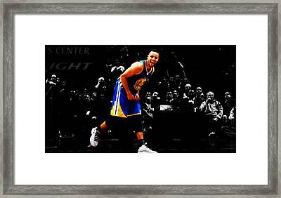 Stephen Curry Having Fun Framed Print
