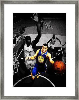 Stephen Curry In Traffic Framed Print