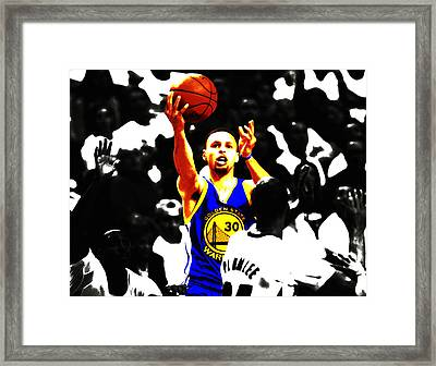 Stephen Curry Smooth As Ice Framed Print