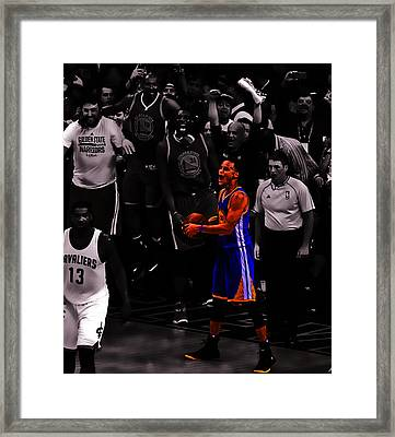 Stephen Curry Sweet Victory Framed Print by Brian Reaves