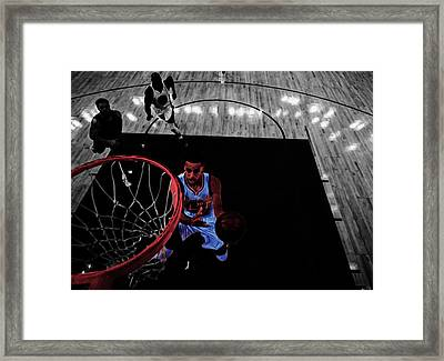 Stephen Curry Taking Flight Framed Print by Brian Reaves