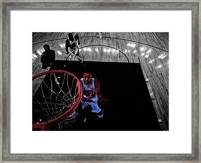 Stephen Curry Taking Flight Framed Print