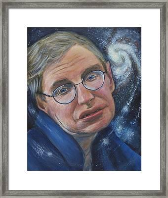 Stephen Hawking Framed Print by Simon Kregar