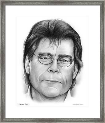 Stephen King Framed Print by Greg Joens
