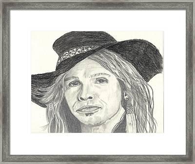 Stephen Tyler Framed Print by DebiJeen Pencils