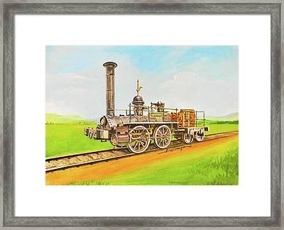 Steam Engine Mississippi Framed Print