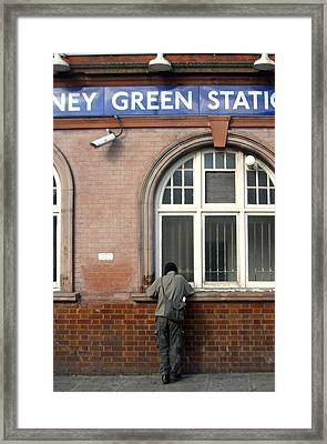 Stepney Green Station Framed Print by Jez C Self